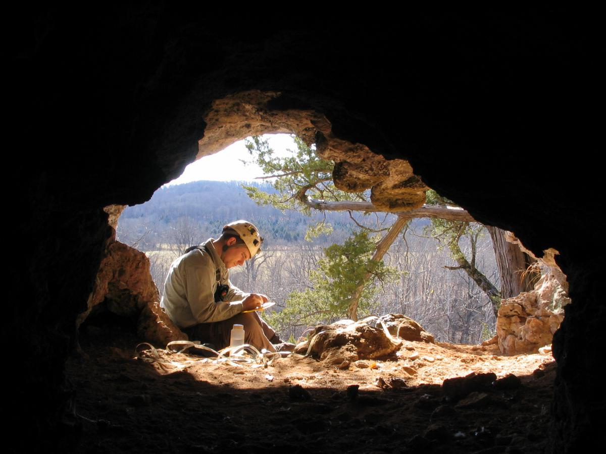 Surveying in a MO Cave